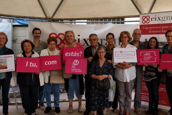 Encuentro con personas cuidadoras en la Izquierda del Eixample, con el apoyo de La Colla Cuidadora y Eix Gran