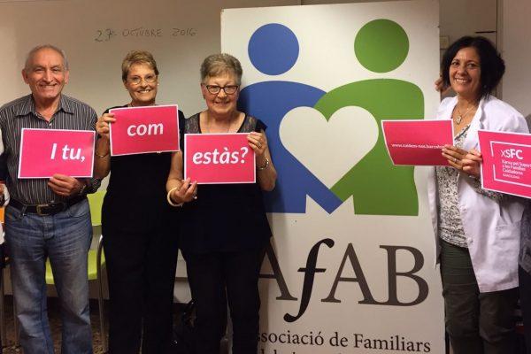 Trobades amb persones cuidadores organitzades per l'Associació de Familiars d'Alzheimer de Barcelona