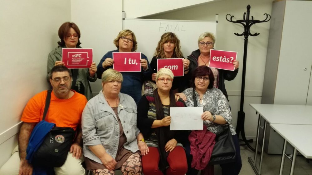 Encuentros con personas cuidadoras organizadas por la Federació Salut Mental Catalunya